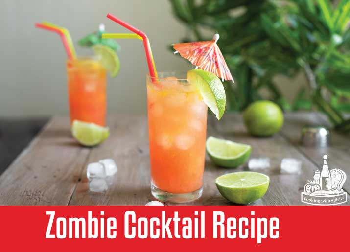 Zombie Cocktail Recipe Cooking With Spirits